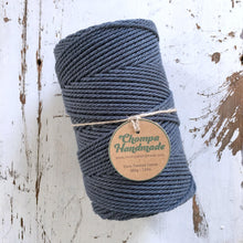 Load image into Gallery viewer, CHARCOAL - 2mm TWISTED COTTON ROPE - Chompa Handmade