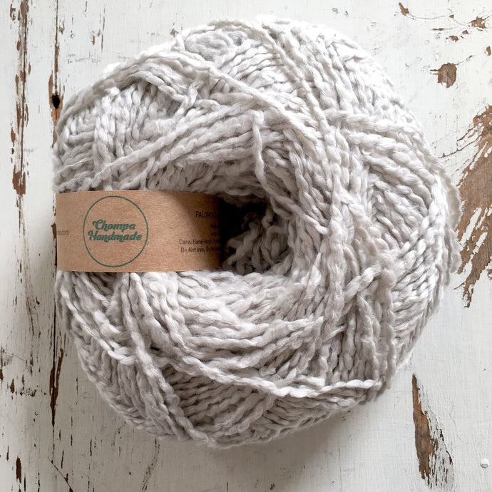 PALOMITA - Pearl Grey - Worsted Cotton Yarn - Chompa Handmade