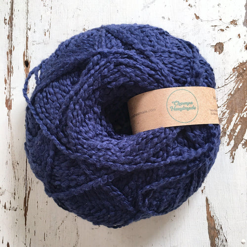 PALOMITA - Blue Jean - Worsted Cotton Yarn - Chompa Handmade