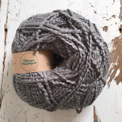 PALOMITA - Dark Grey - Worsted Cotton Yarn - Chompa Handmade
