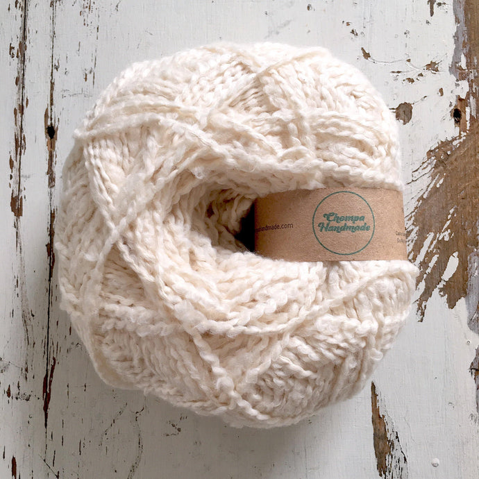 PALOMITA - Ecru - Worsted Cotton Yarn - Chompa Handmade