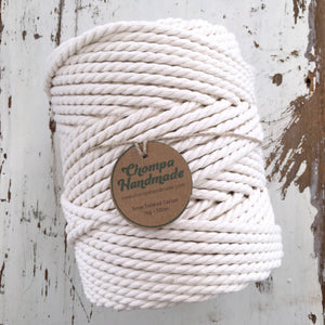 PRE-ORDER NATURAL 5mm TWISTED - 500g | 1kg - Chompa Handmade
