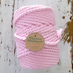 NEW - PINK 7mm | 50m | 25m TWISTED COTTON ROPE