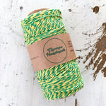 GREEN & YELLOW - TWINE - Slightly waxed string