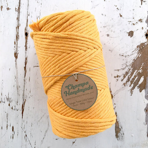MUSTARD SINGLE TWIST LUXE - Chompa Handmade