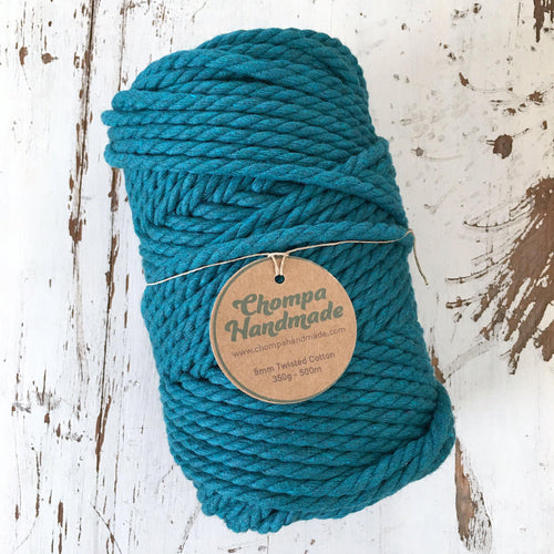 TEAL 5mm TWISTED 500g - Chompa Handmade