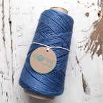 BLUE DENIM - Coloured Rustic Linen - ChompaHandmade