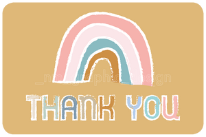 STICKERS - THANK YOU (6 PACK) - Chompa Handmade