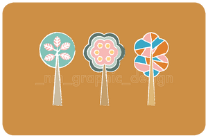 STICKERS - TREES (6 pack) - Chompa Handmade