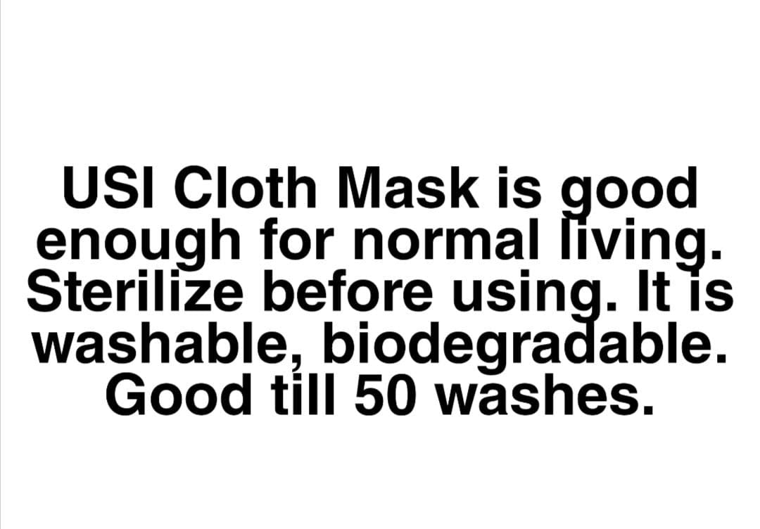 USI_PAC3 of USI_Mask Washable_Reusable & Biodegradable Cloth Mask (Electric Blue)