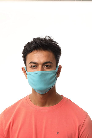 Open image in slideshow, USI_Single Ply Reusable Washable Easy to Breathable Mask (Sea green)