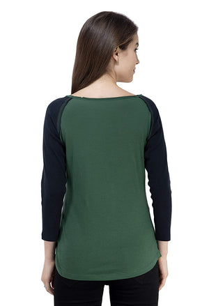 USI Uni Style Image Womens Round Neck 3/4th Sleeve Terry Fleece
