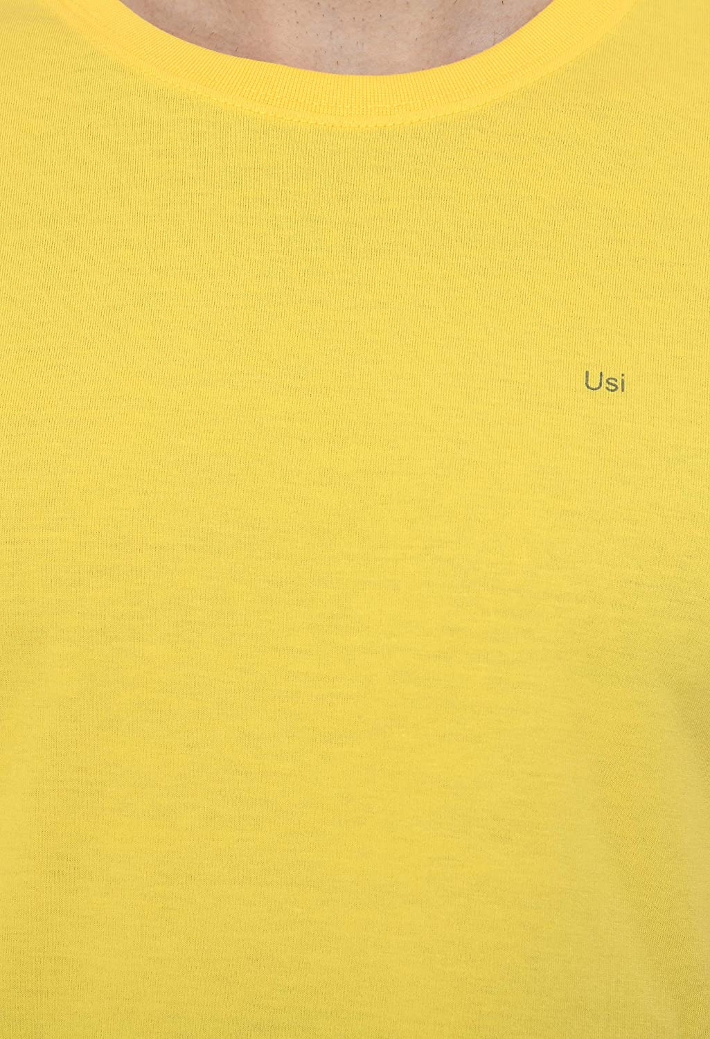USI Uni Style Image Mens T-Shirt Color: Yellow