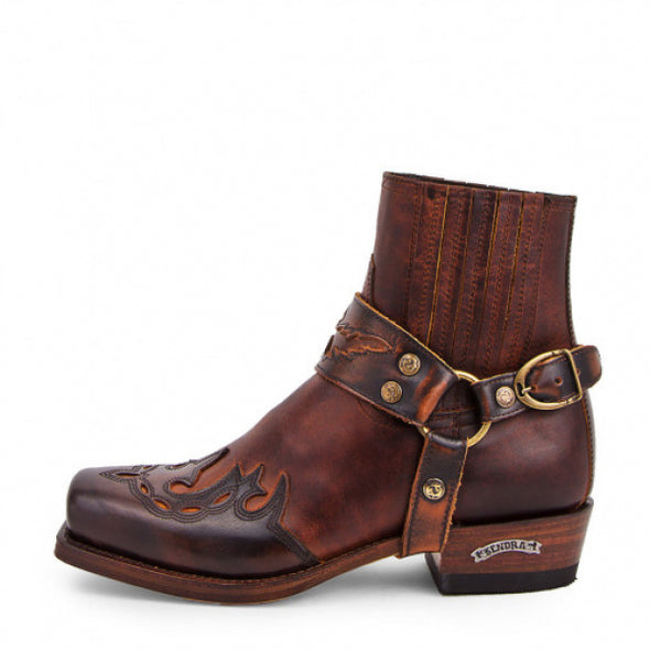 Botas Cowboy 7811 Blues BRITNES FL. MARRON-EVOLUTION TANG SENDRA BOOTS