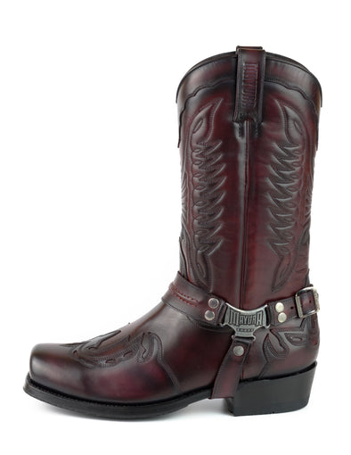 Botas Biker Motard Homem 2471 Indian Bordeaux