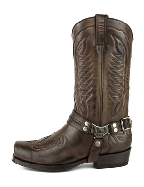 Botas Biker Motard Homem 2471 Indian Marron