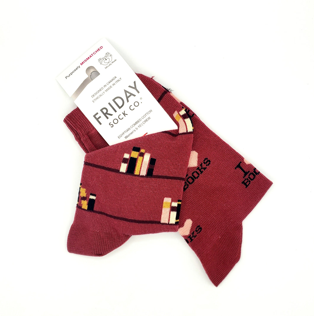 Women's Socks - I Love Books