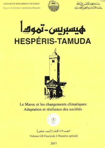 Ketabook:HESPERIS TAMUDA 2017 / Special Issue on Climate & Ecological Changes,Faculty of Letters, Rabat
