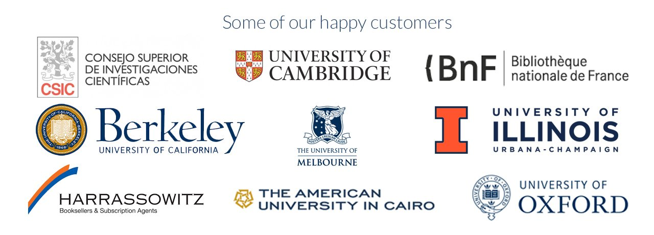 we serve top academic institutions worldwide