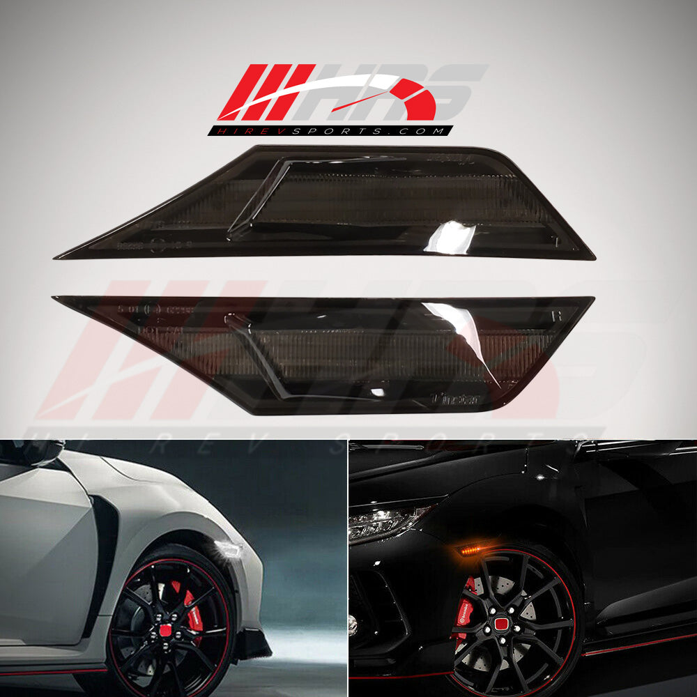 HRS - 2016-20 Honda Civic Hatchback FK7 FK8 Front LED Side Reflectors - Markers