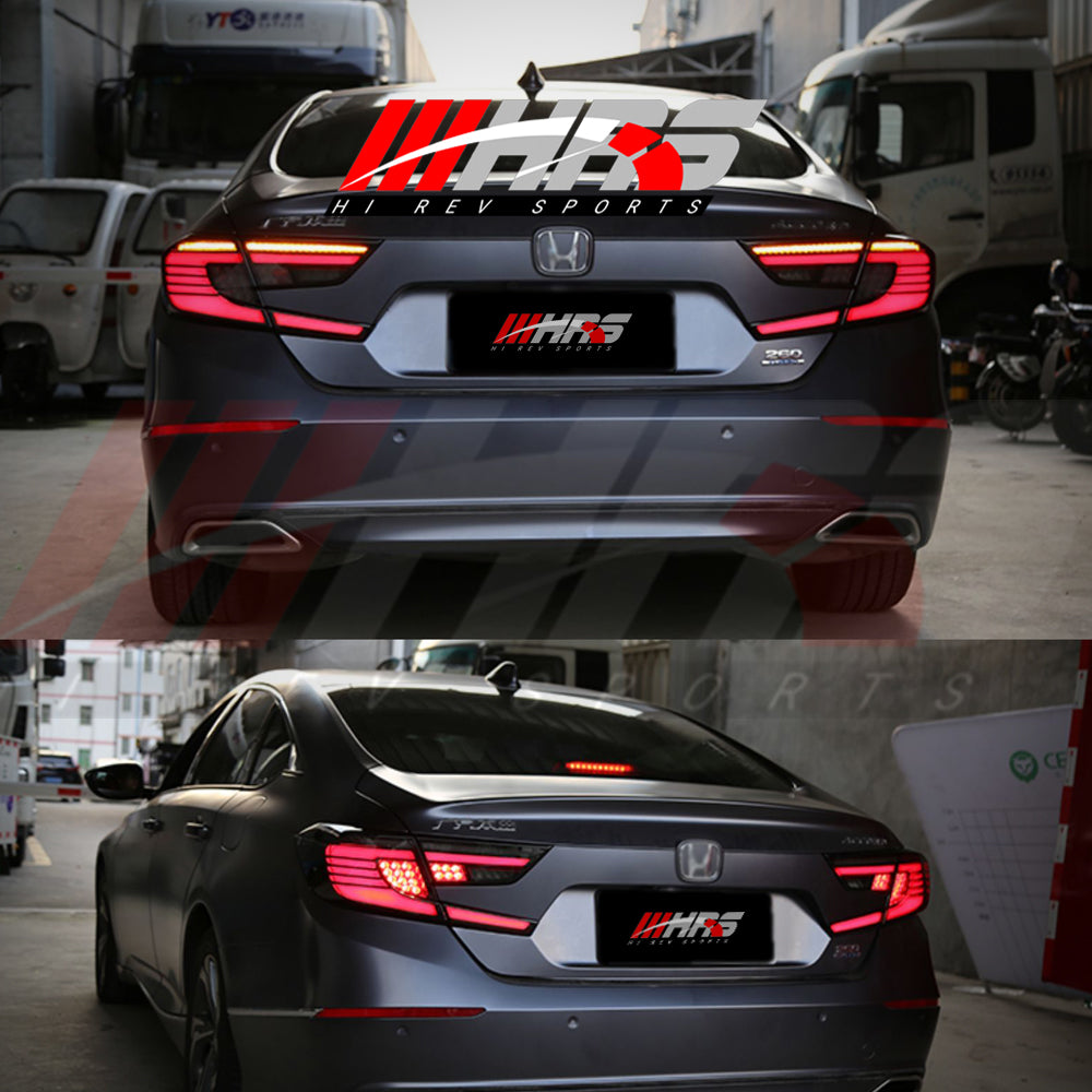 Load image into Gallery viewer, HRS - 2018-20 Honda Accord LED Tail Lights - V2 Smoke