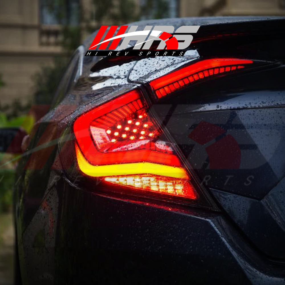 HRS - 2016-20 Honda Civic LED Tail Lights V3 - Choose Color