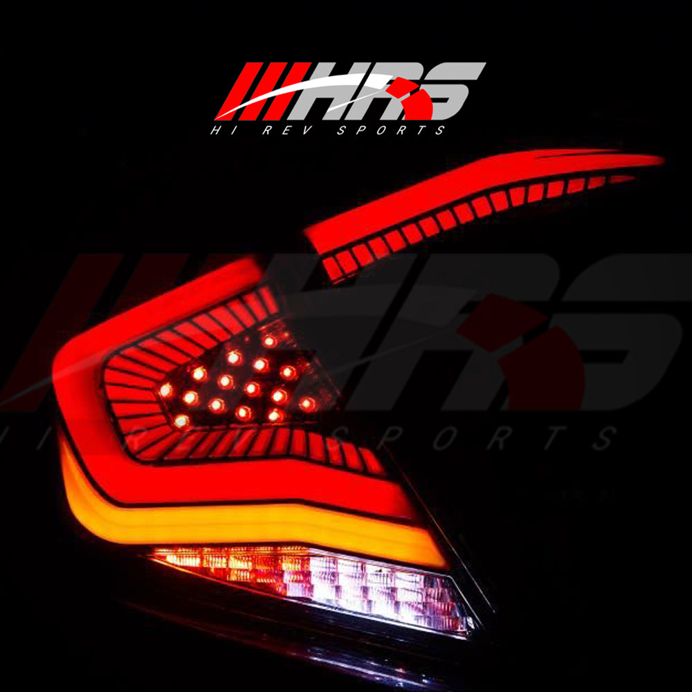 Load image into Gallery viewer, HRS - 2016-20 Honda Civic LED Tail Lights V3 - Choose Color
