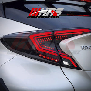 Load image into Gallery viewer, HRS - 2018-20 Toyota C-HR LED Tail Lights - Black - Minor Imperfections - CLEARANCE