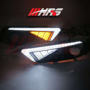 Load image into Gallery viewer, HRS - 2016- 18 Honda Civic Front Bumper DRL Turn Signals - V5
