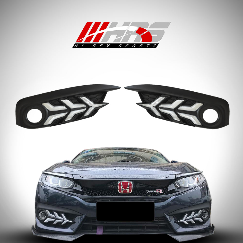 HRS - Honda Civic Sedan Front Bumper DRL Turn Signals
