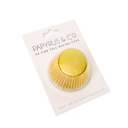 Standard GOLD Foil Baking Cups (50 pack) - 50mm Base-Party Love