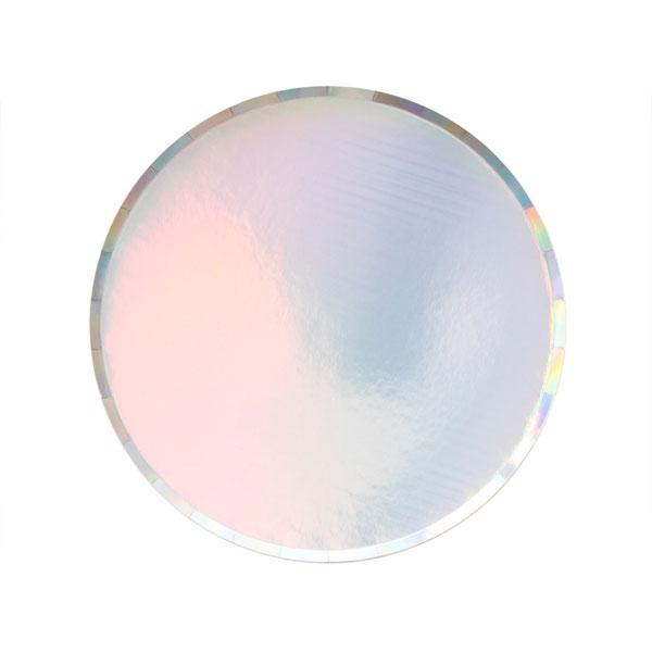 Iridescent Paper Party Plates (Small)-Party Love