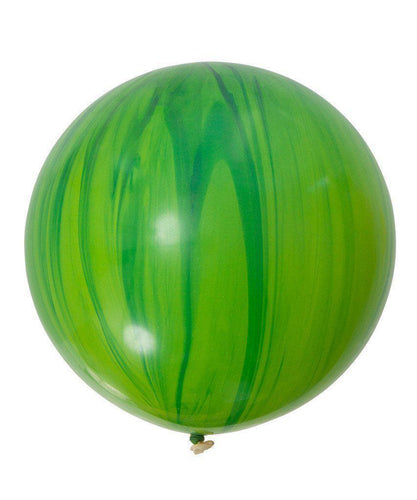 Jumbo Green Superagate Balloon 76cm (1 Pack)-Party Love