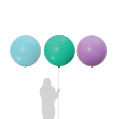 Jumbo Lilac, Aquamarine, Light Blue Balloon 90cm (3 Pack)-Party Love