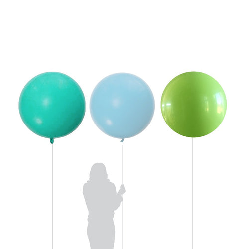 Jumbo Lime, Aquamarine, Blue Balloon 90cm (3 Pack)-Party Love