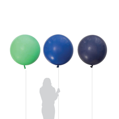 Jumbo Navy, Blue & Green Balloon 90cm (3 Pack)-Party Love