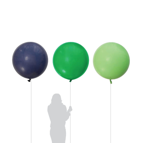 Jungle Navy, Green & Lime Balloons 90cm (3 Pack)-Party Love