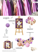 Load image into Gallery viewer, Lola – Plum, Raspberry Pink, Eggplant and Rose Gold Tassel Garland-Party Love