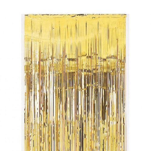 Metallic Gold Curtain (2m x 90cm)-Party Love