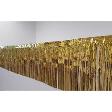 Load image into Gallery viewer, Metallic Gold Fringe (50cm x 2.5m)-Party Love