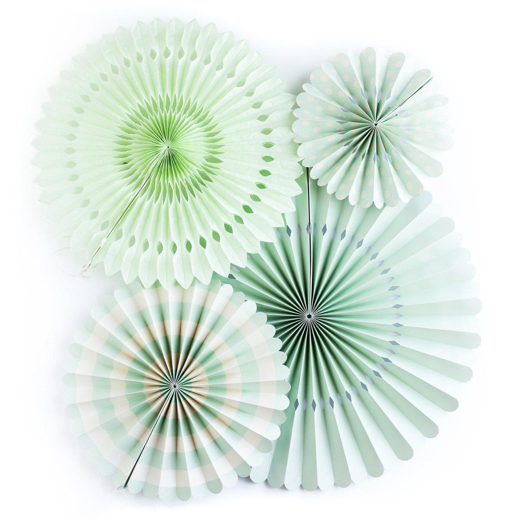 Mint Basics Party Fans (Green)-Party Love