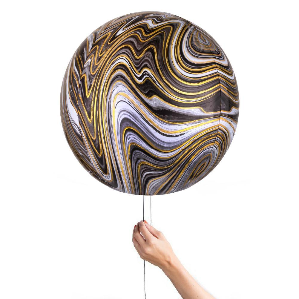 40cm Black Gold Marble Foil Orbz-Party Love