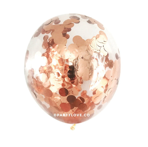Rose Gold Copper 2cm Confetti Balloons (3 Sizes Available)-Party Love
