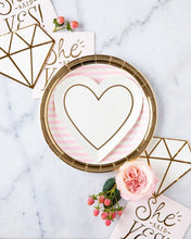 "Load image into Gallery viewer, Pink Striped 9"" Party Plates-Party Love"