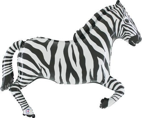 Zebra Foil Balloon 66cm-Party Love