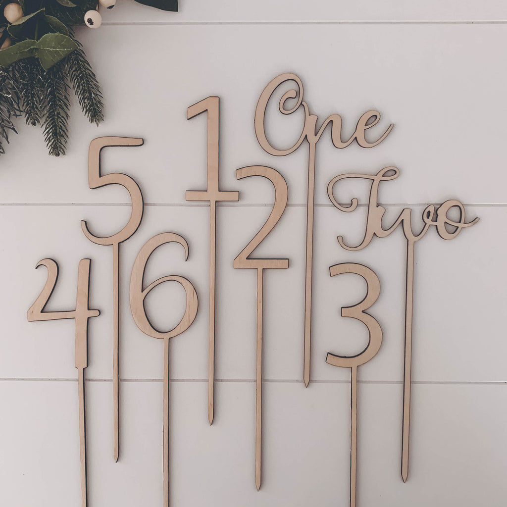 wooden laser cut wedding table numbers NZ
