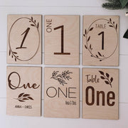 Table Numbers - Engraved - The Occasion Co. - Personalised engraved gifts for the home, wedding, kids, pets and more.