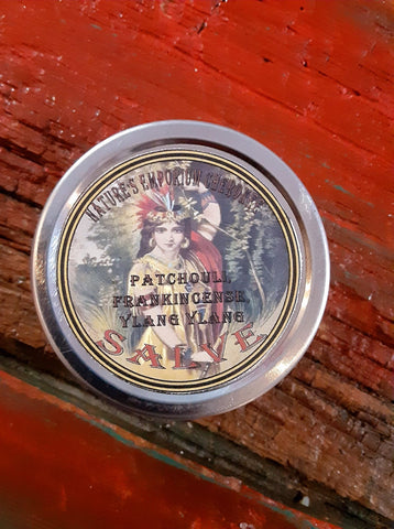 Patchouli Frankincense Ylang Ylang Salve 2 Ounce