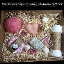 Load image into Gallery viewer, Rose Scented Organic Daily Cleansing Gift set