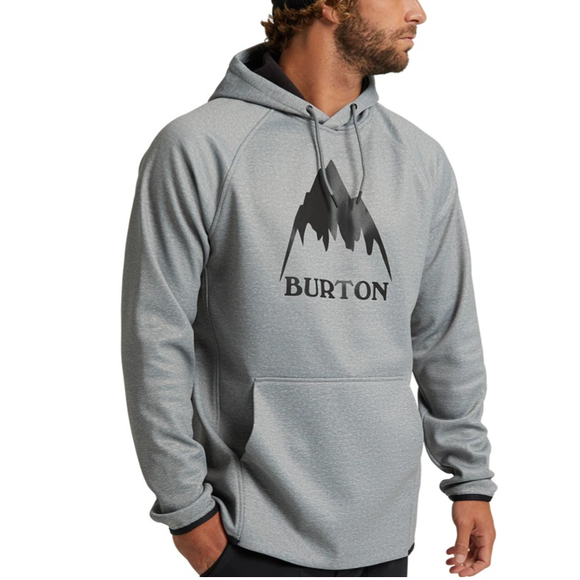 Pullover Burton Crown Waterproof Gray Heather